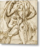The Birth Of Bacchus From Jupiter's Thigh Metal Print