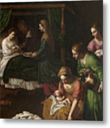The Birth Of The Virgin Metal Print