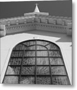 The Black And White Church Metal Print