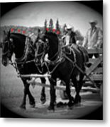 The Black Team - Bar U Ranch Metal Print