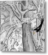 The Blackbird And The Worm Metal Print