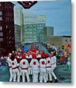 The Blanket Toss Metal Print