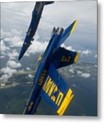 The Blue Angels Over Pensacola Beach Metal Print