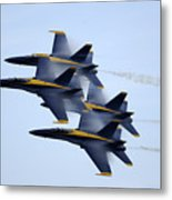 the Blue Angels perform a Diamond 360 Metal Print