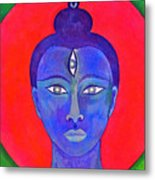 The Blue Buddha Metal Print