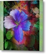 The Blue China Rose  Metal Print