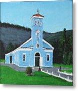 The Blue Church Metal Print