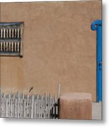 The Blue Door Metal Print