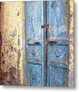 The Blue Doors Nubian Village Metal Print