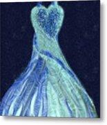 The Blue Dress Metal Print