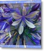 The Blue Flowers Of Melanie  Metal Print