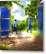 The Blue Gate Metal Print