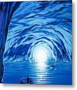 The Blue Grotto In Capri By Mcbride Angus  Metal Print by Angus McBride