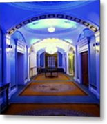 The Blue Hallway Metal Print