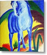 The Blue Horse Franc Marz Metal Print