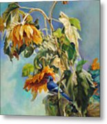 The Blue Jay Who Came To Breakfast Metal Print