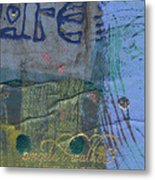 The Blue Lady Prays Metal Print
