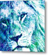 The Blue Lion Metal Print