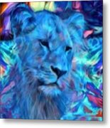 The Blue Lioness Metal Print