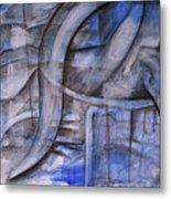The Blue Machine Metal Print