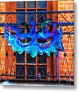 The Blue Mask Metal Print