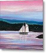 The Blue Nose II At Baddeck Nova Scotia Metal Print