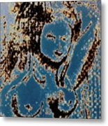 The Blue Nude Metal Print