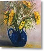 The Blue Pitcher Metal Print