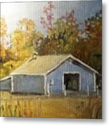 The Blue Shed Metal Print