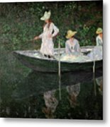 The Boat At Giverny Metal Print by Claude Monet