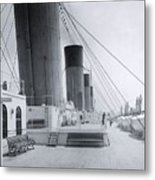 The Boat Deck Of The Titanic Metal Print