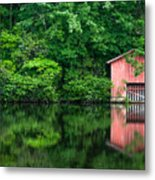 The Boat House At Desoto Falls Metal Print