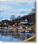 The Boat House Row Metal Print