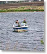 The Boater Metal Print