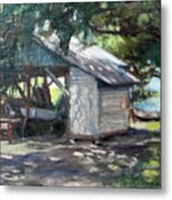 The Boathouse At Historic Spanish Point Park, Osprey, Fl Metal Print