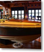 The Boathouse Interior Work 2 Metal Print