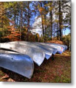 The Boats At Woodcraft Camp Metal Print
