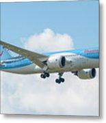 The Boeing 787-8 G-tuif Landing Thomson Tui Airline Metal Print