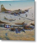 The Bomb Run Over Schwienfurt Metal Print