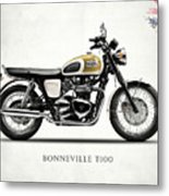 The Bonneville T100 Metal Print
