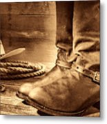 The Boots Metal Print