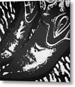 The Boots Black Metal Print