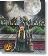 The Bored Little Witch Metal Print