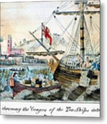 The Boston Tea Party, 1773 Metal Print