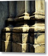 The Bottom Of The Pillar Of The Old Building Metal Print