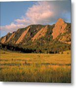 The Boulder Flatirons Metal Print