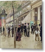 The Boulevard Montmartre And The Theatre Des Varietes Metal Print