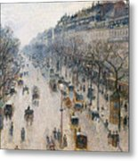 The Boulevard Montmartre On A Winter Morning, 1897  Metal Print