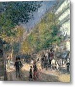 The Boulevards  Metal Print by Pierre Auguste Renoir