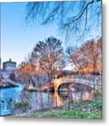 The Bow Bridge In Central Park Metal Print